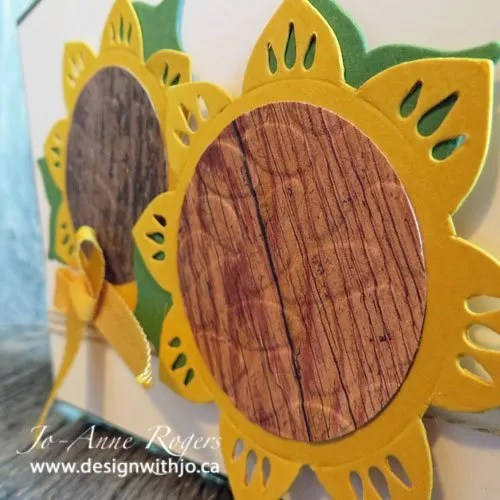 make a pretty sunflower card with your eastern medallion thinlits