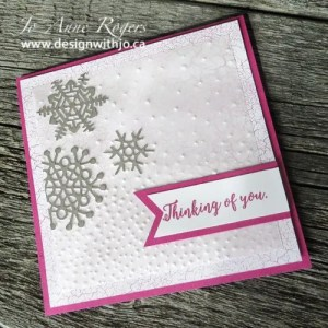 create an embossed snowflake themed card