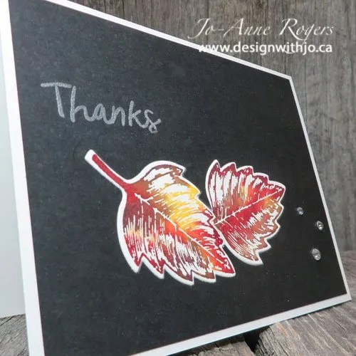Easy Watercolour Leaf Cards