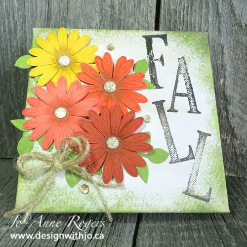 fall flower DIY home decor