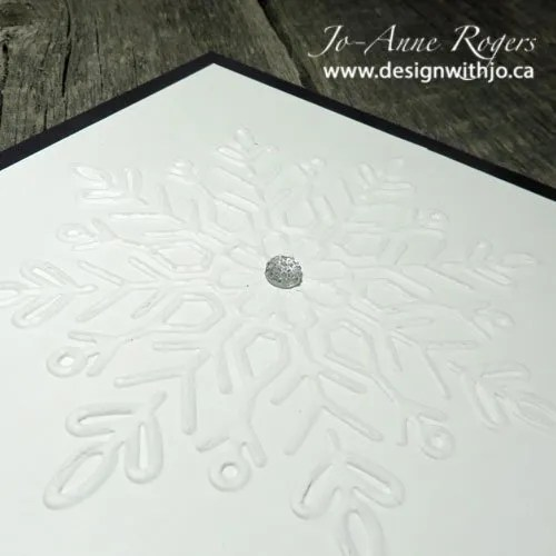 super simple three step snowflake card