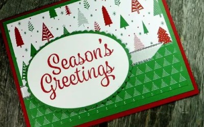 Classy Christmas Patterned Paper Greeting Cards