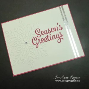 DIY snowflake handmade stamped Christmas greeting card