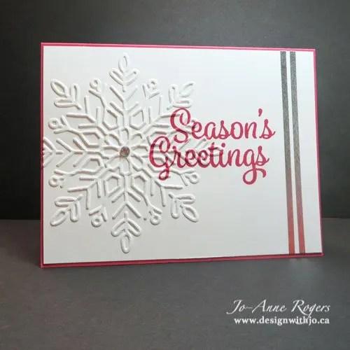 Diy snowflake handmade stamped christmas greeting card design with jo diy snowflake handmade stamped christmas greeting card m4hsunfo