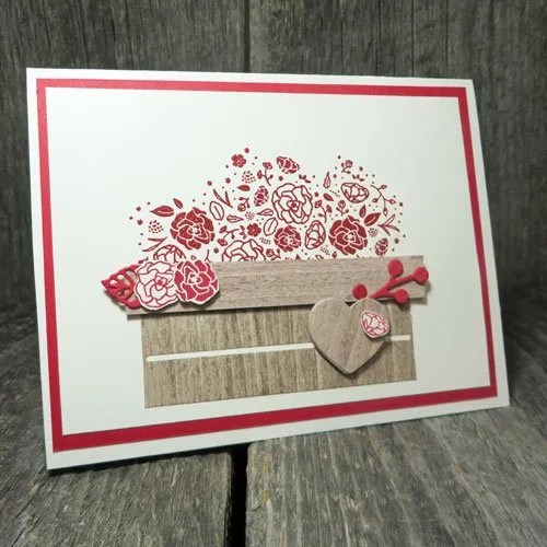 Heat Embossed Valentines Crate Card