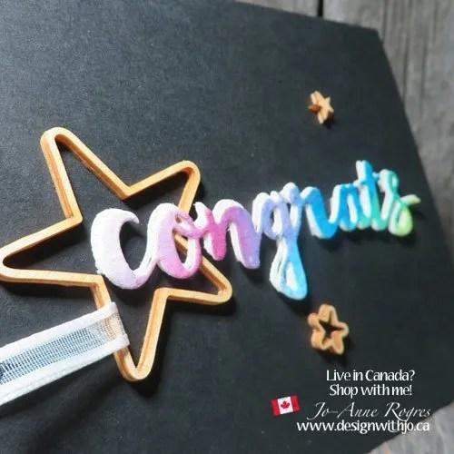 Make a Congrats Watercolour Pencil Art Card
