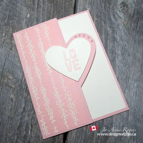 Make a Pretty Reverse Fold Love You Card – VIDEO