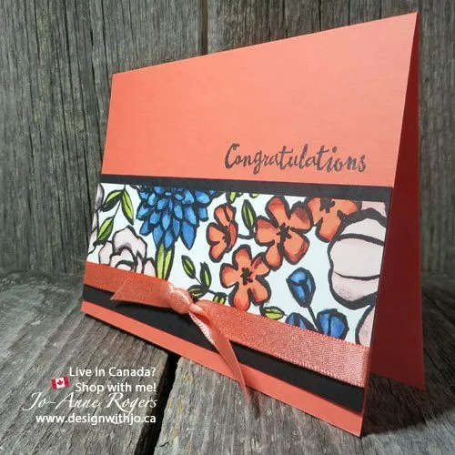 hw gorgeous is this colour patterned paper with Stampin Up alcohol based markers
