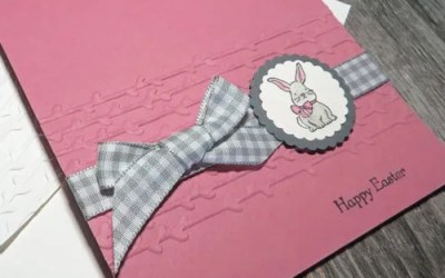 Make a Cute Bunny Rabbit Easter Card | VIDEO
