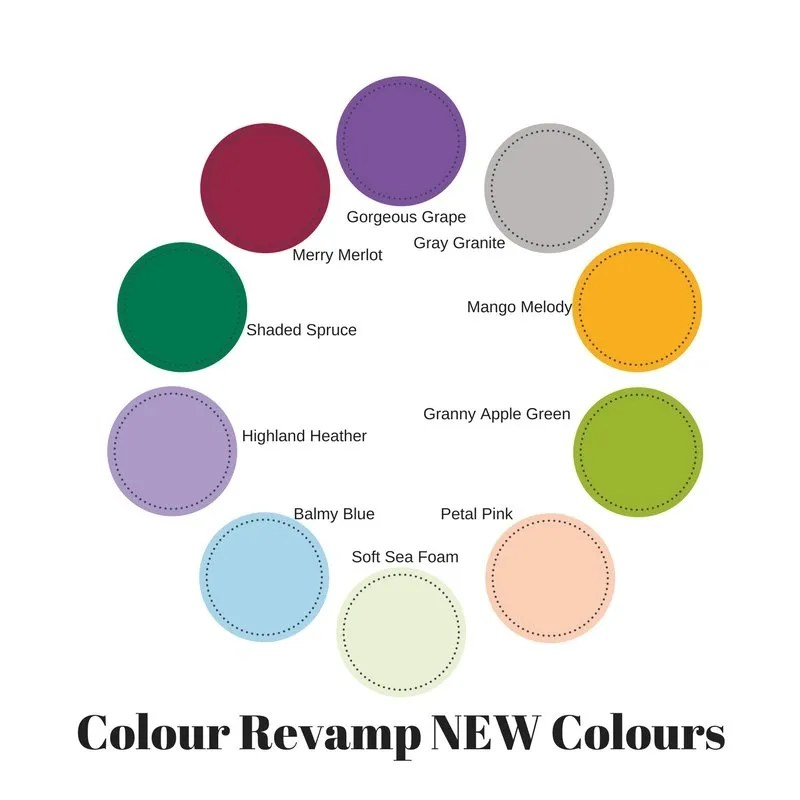 why I love the 2018 stampin up colour revamp