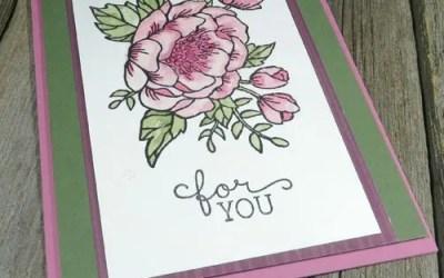 Easy Handmade Watercolour Flowers Card