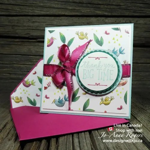 Matching Designer Series Paper and Coordinating Cardstock for Cute Cards