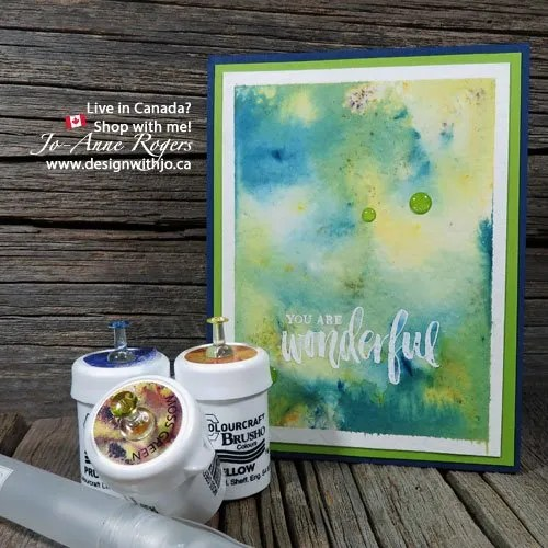 How to Emboss Brusho Crystal Watercolour Backgrounds | VIDEO