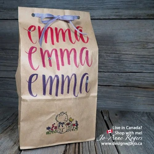 make them feel special with lettering your kids lunch bags for school