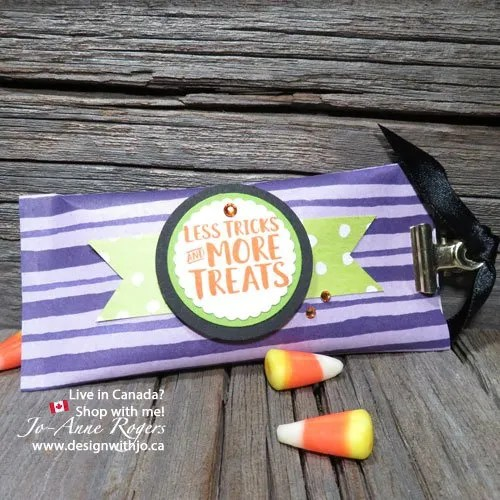 Handmade Candy Corn Countdown Trick or Treat Candy Packets