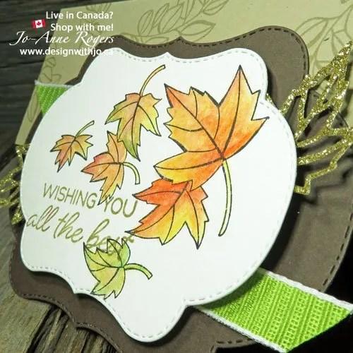 I love colour your season easy handmade gatefold card for fall