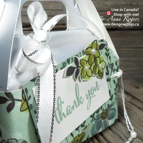 Say a Special Thank You with Silver Mini Gable Treat Boxes