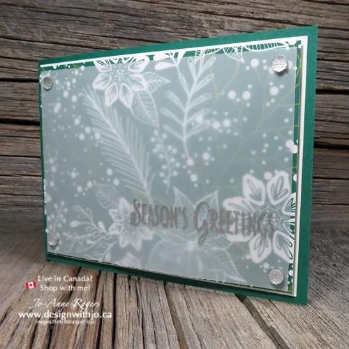 Heat Embossing on Vellum Christmas 2018 Card