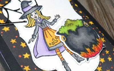 Over-the-top Twist and Pop Halloween Card