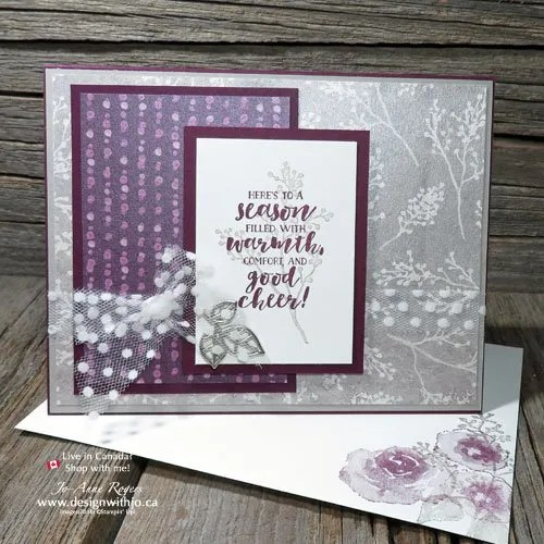 Rubber Stamping Christmas Cards for Elegant Greetings