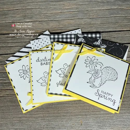 GIFT CARDS set in My Favorite Color Combination for Greeting Cards