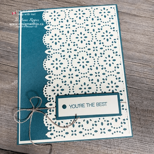 Learn Simple Card Making with Stitched Lace Dies