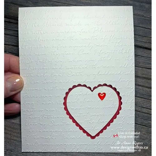 Make a Peek Through Heart Card for Someone Special with the Heart Punch Pack and Scripty 3D Embossing Folder from Stampin' Up!