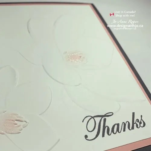 Quick VIDEO to Make This Easy Thank You Card for Ladies