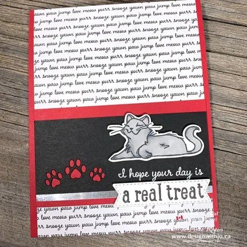 Super Sweet Handmade Cat Card for International Cat Day