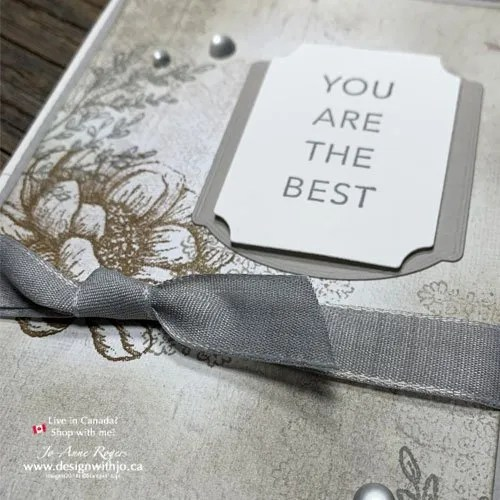 Tasteful Touches Fancy Fold Rubber Stamped Handmade Card