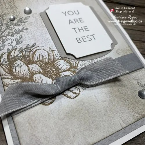 Oh So Pretty Fancy Fold Rubber Stamped Handmade Card