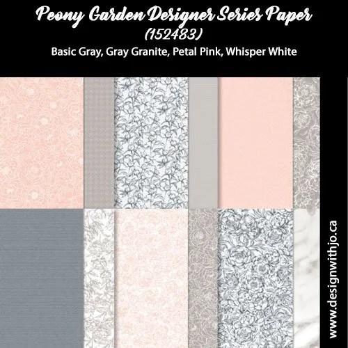 How to Make a No Stamp Handmade Card with Peony Garden Designer Paper