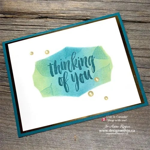 Quick and Easy Simple Sponged Handmade Card