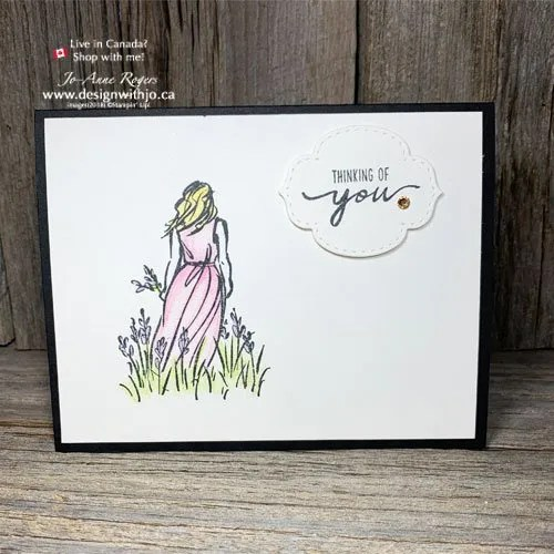 Colour rubber stamped images with watercolour pencils from Stampin Up!