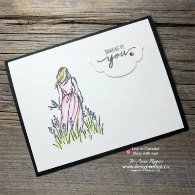 Colour Rubber Stamped Images with Watercolour Pencils
