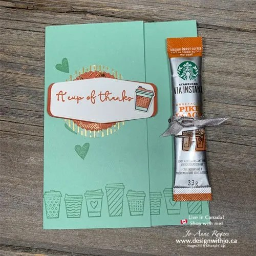 See How to Make a Coffee Treat Thank You Card