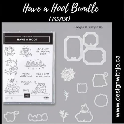 Want a Cute Halloween Card Idea with the Have a Hoot Bundle from Stampin Up!?