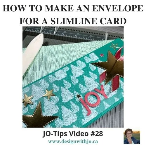 VIDEO: How to Make an Envelope for a Slimline Card Like This One With Stitched Stars Dies from Stampin Up!