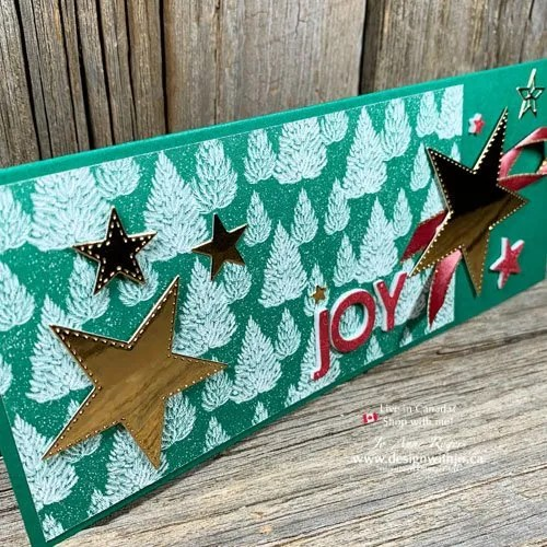 How to Make an Envelope for a Slimline Card Like This Handmade Christmas Greeting