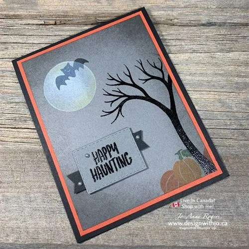 It's FUN to Make a Spooky Tree for a Handmade Halloween Card