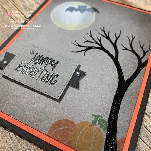 How Much FUN to Make a Spooky Tree for a Handmade Halloween Card with the Life is Beautiful stamps from Stampin' Up!