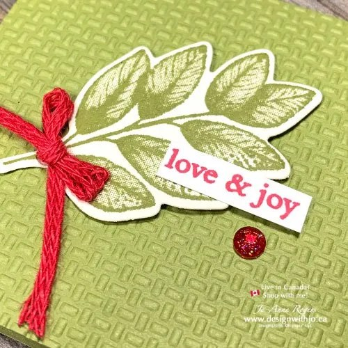 Make a Tiny Handmade Christmas Card with Forever Fern Rubber Stamps