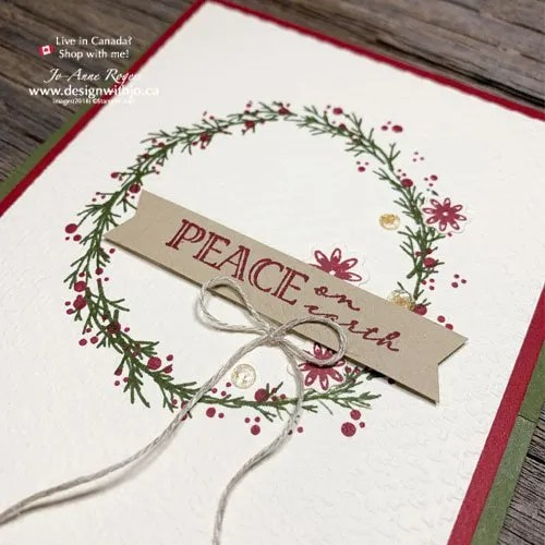 Rubber Stamp a Christmas Wreath Card