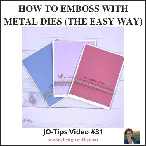 How to Emboss with Metal Dies