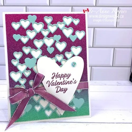 Make a Valentines Day Card with A Stunning Die from Stampin Up!