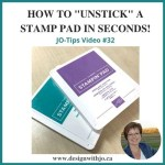 VIDEO Tip How to Unstick a Stamp Pad