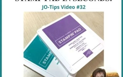 How to UnStick a Stamp Pad |JO-Tips Video