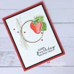 Cheerful Birthday Card with Strawberry Builder punch from Stampin