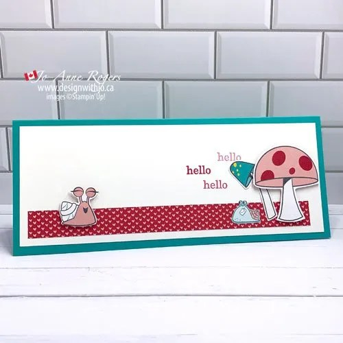 Video How to Make a Simple Slimline Card with Patterned Paper