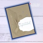 Step by Step Tutorial for this Simple Embossed Card made with Seashells 3D Embossing Folder from Stampin